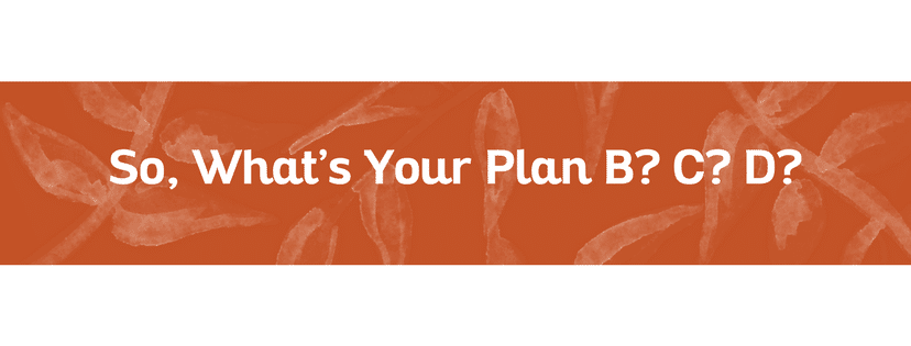 So, what's your plan B? C? D?